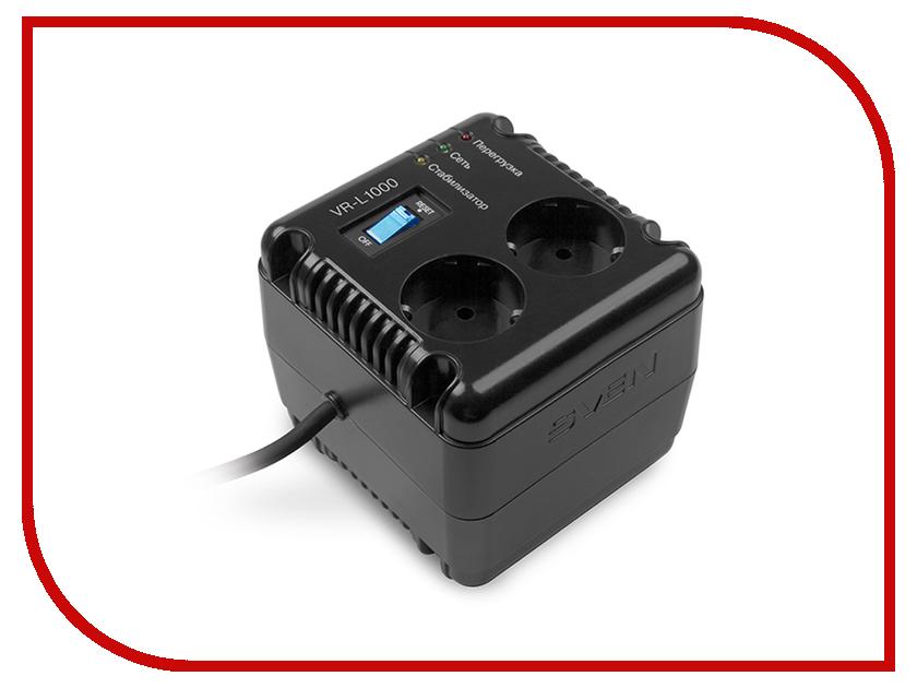 Стабилизатор Sven VR-L1000 SV-014872 стабилизатор sven avr slim 1000 lcd sv 012816