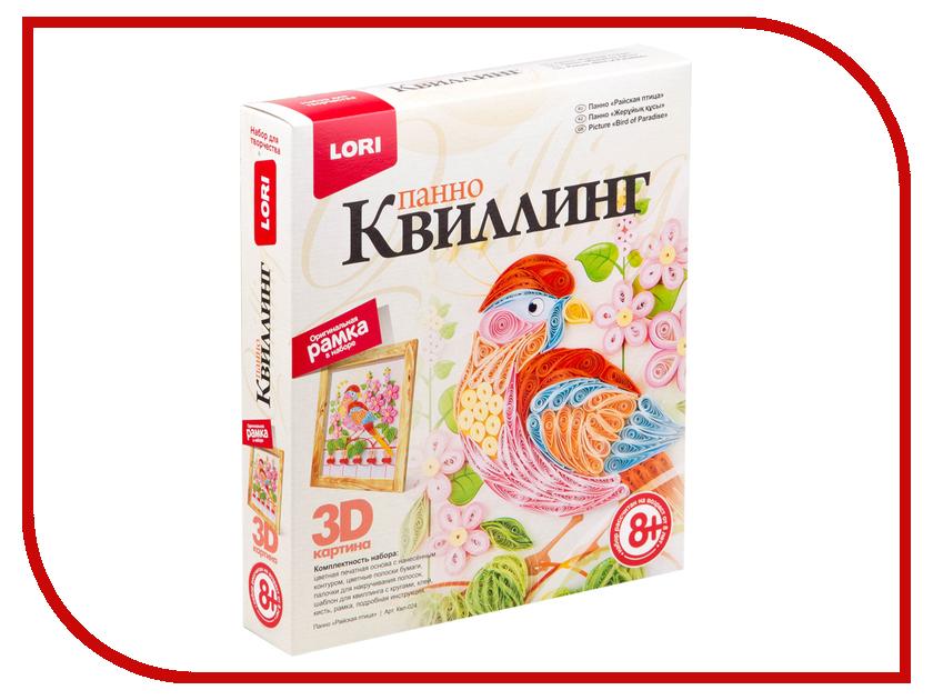 Набор Lori 3D Квиллинг-панно Райская птица Квл-024 / 254783