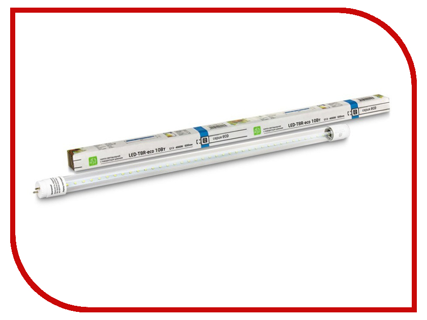 Лампочка ASD LED-T8R-eco 10W 230V G13 4000K 800Lm 600mm White 4690612004105