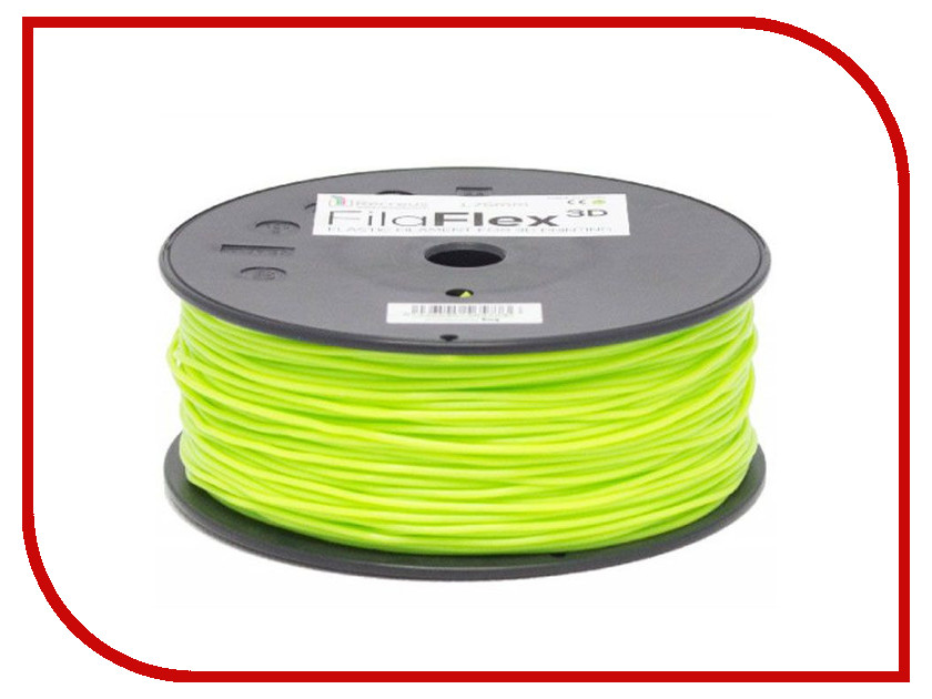 Аксессуар BQ Filaflex PLA-пластик 1.75mm 500гр Green F000082 esun пластик pla в катушке green 1 75 мм
