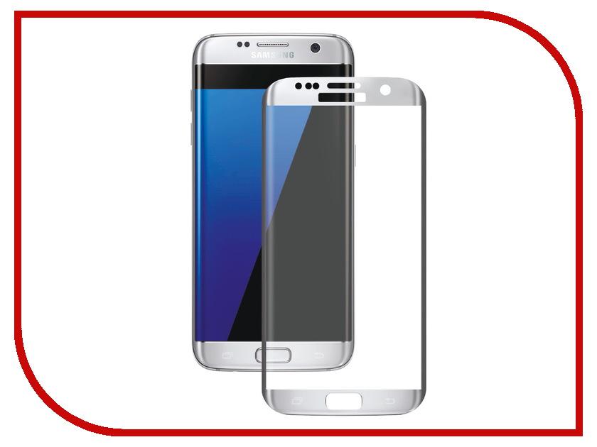Аксессуар Защитное стекло для Samsung Galaxy S7 Onext 3D с рамкой Silver защитное стекло onext 3d для samsung galaxy a6 plus 2018 с рамкой черный
