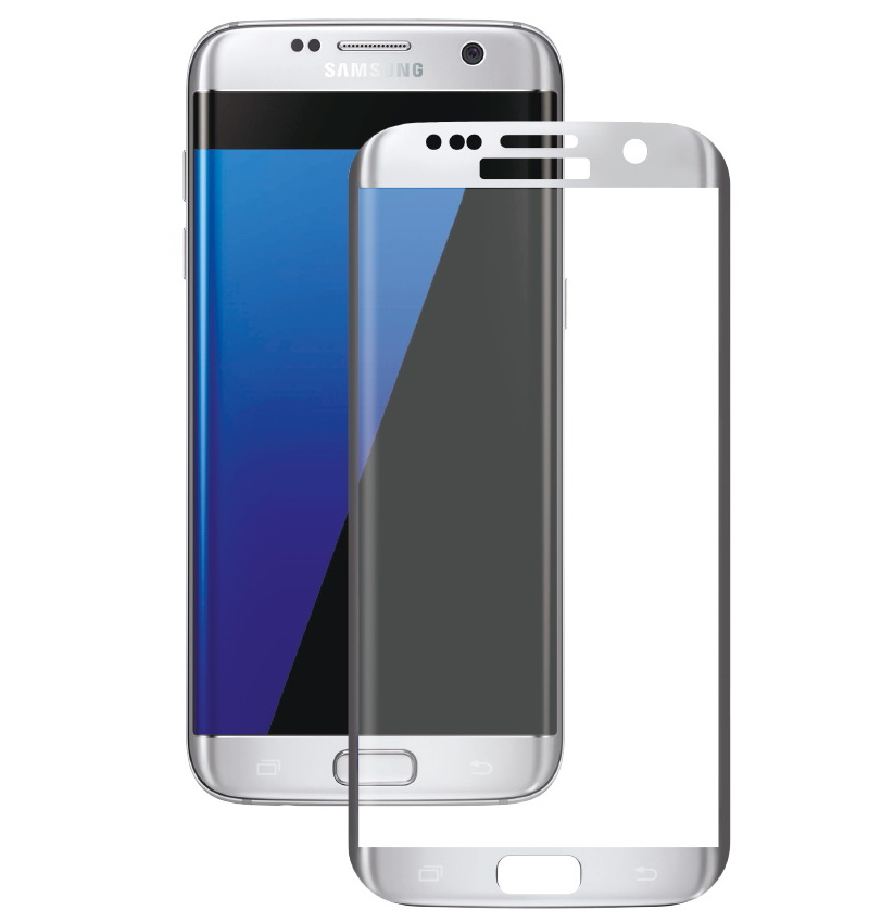 Аксессуар Защитное стекло Onext для Samsung Galaxy S7 3D с рамкой Silver цена