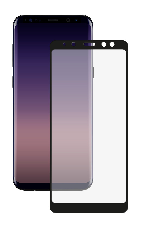 Закаленное стекло DF для Samsung Galaxy A8 Plus 2018 Full Screen sColor-33 Black