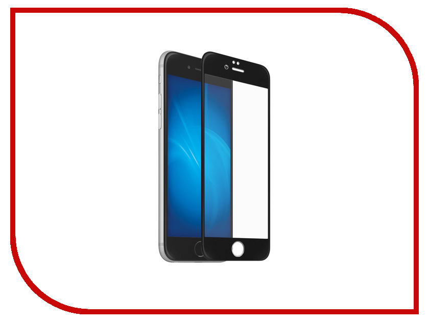 Аксессуар Защитное стекло Onext для APPLE iPhone 7/8 с рамкой Black 41585 защитное стекло onext для apple iphone 7 plus глянцевое
