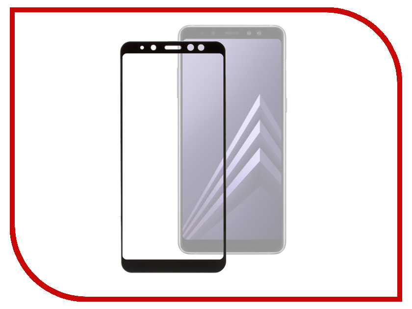 Аксессуар Защитное стекло для Samsung Galaxy A8 2018 Onext с рамкой Black 41576 аксессуар защитное стекло onext eco для iphone 7 plus 43111