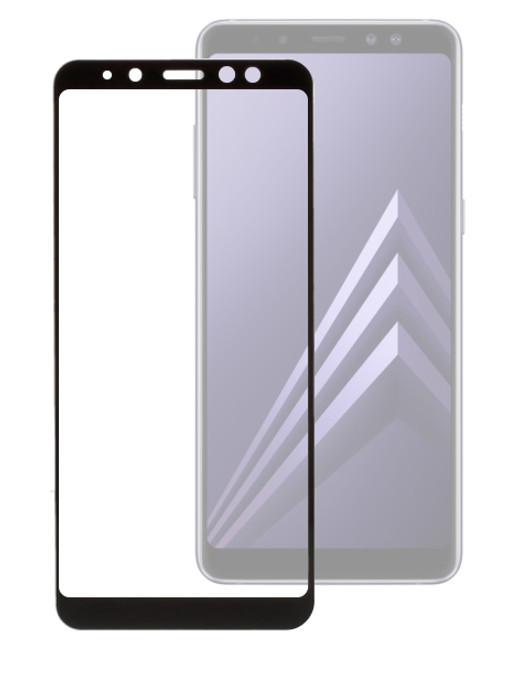 Аксессуар Защитное стекло Onext для Samsung Galaxy A8 2018 с рамкой Black 41576 защитное стекло для samsung g925f galaxy s6 edge onext изогнутое по форме дисплея с прозрачной рамкой