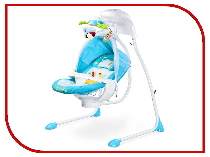 Электрокачели Caretero Bugies Blue Tero-8072 стульчик для кормления caretero pop green зеленый tero 7264