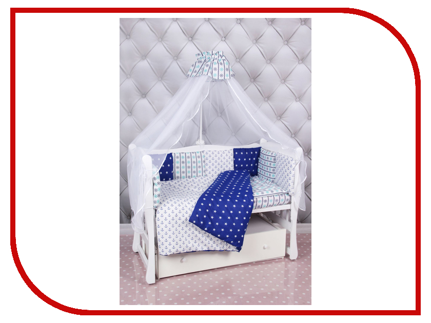 Комплект AmaroBaby Бриз Бязь Blue - White