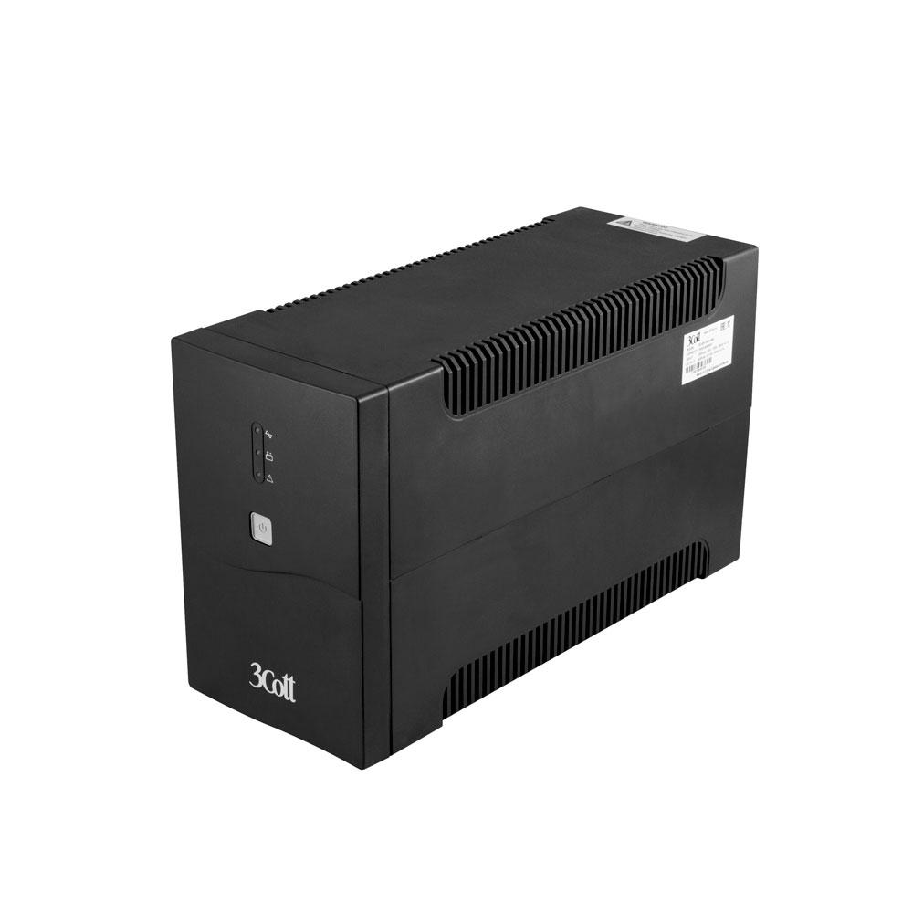 Источник бесперебойного питания 3Cott Home Line 1500VA 900W 3Cott-1500-HML батарея 3cott 12v18ah