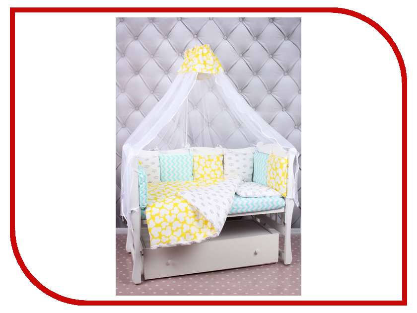 Здесь можно купить Happy Baby  Комплект AmaroBaby Happy Baby Бязь Mint-Yellow комплекты в кроватку