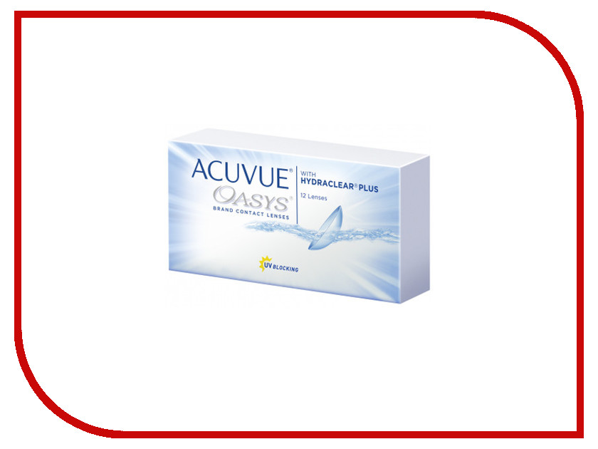 Контактные линзы Johnson & Johnson Acuvue Oasys with Hydraclear Plus (12 линз / 8.4 / -4) контактные линзы johnson