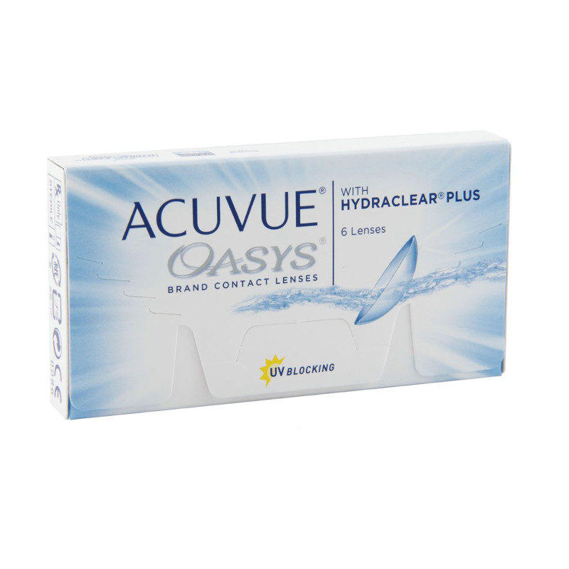 Контактные линзы Johnson & Acuvue Oasys with Hydraclear Plus (6 линз / 8.4 -8)