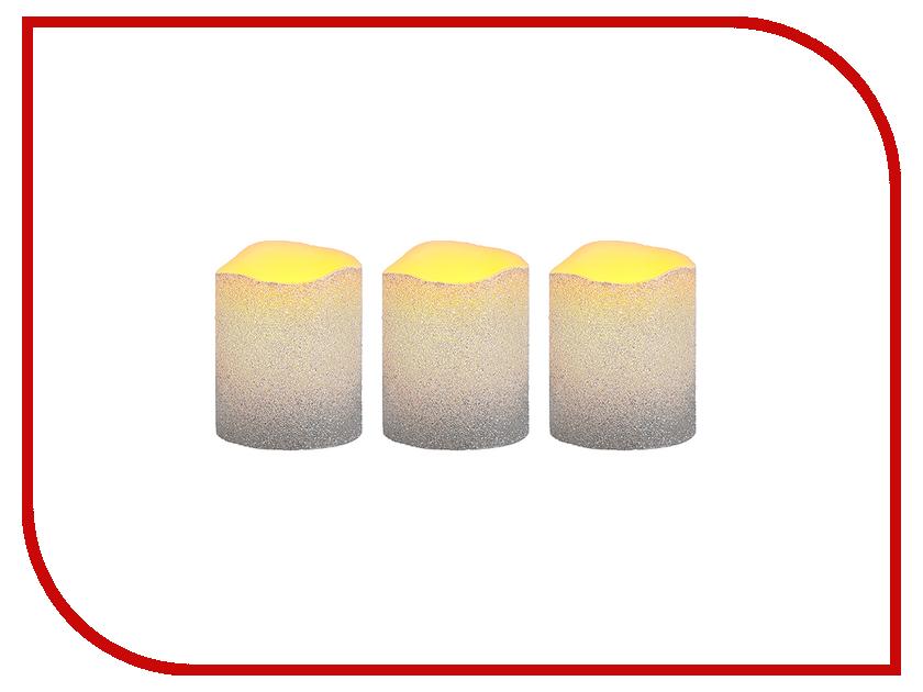 Светодиодная свеча Star Trading Wax 3шт Silver 066-63