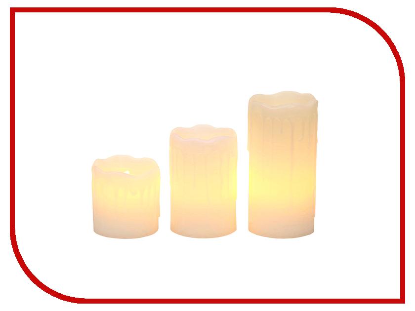 Светодиодная свеча Star Trading 3шт White 067-88