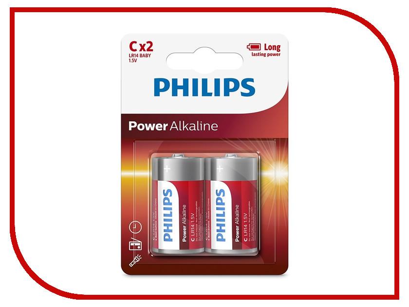 Philips Батарейка C Philips LR14P2B/10 (2 штуки )