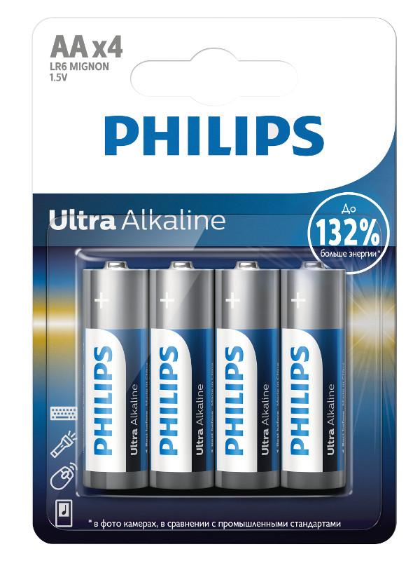 Батарейка AA 4B Philips LR6E4B/51 Ultra (4 штуки)