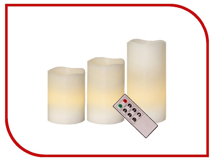 Светодиодная свеча Star Trading 3шт White 062-10