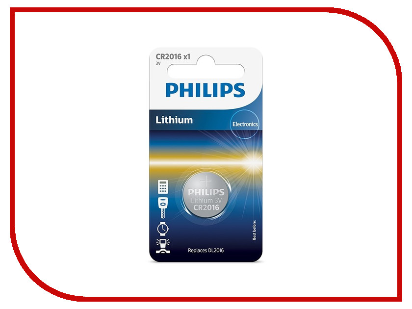 Батарейка CR2016/01B Philips Lithium 3.0V ( 1 штука ) ci 01b
