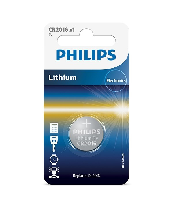 Батарейка CR2016/01B Philips Lithium 3.0V ( 1 штука )