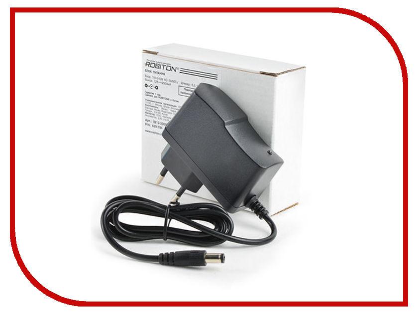 Блок питания Robiton IB12-2000S/II 5,5x2,1x10 629-194 блок питания robiton en300s