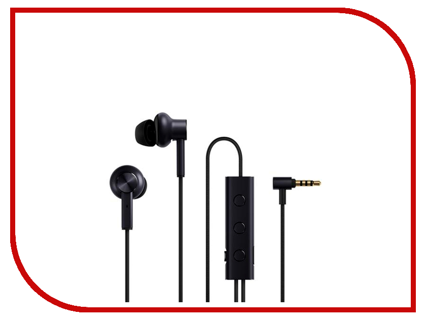 Xiaomi Mi Noise Cancelling Earphones JZEJ02JY Black kst 18 stereo metal in ear earphones super bass 3 5mm headset noise cancelling headphones portable for xiaomi all phones