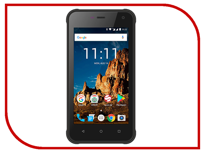 цена на Сотовый телефон Senseit R500 Black