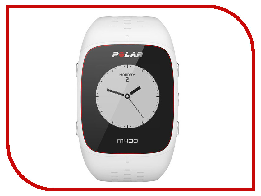 Часы Polar M430 HR White polar a300 blk hr