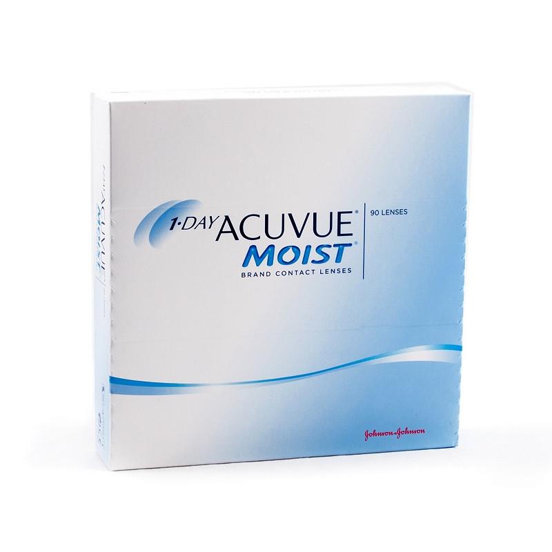 Контактные линзы Johnson & Johnson 1-Day Acuvue Moist (90 линз / 8.5 / -5) контактные линзы johnsonjohnson 1 day acuvue moist 30 шт r 8 5 d 11 5