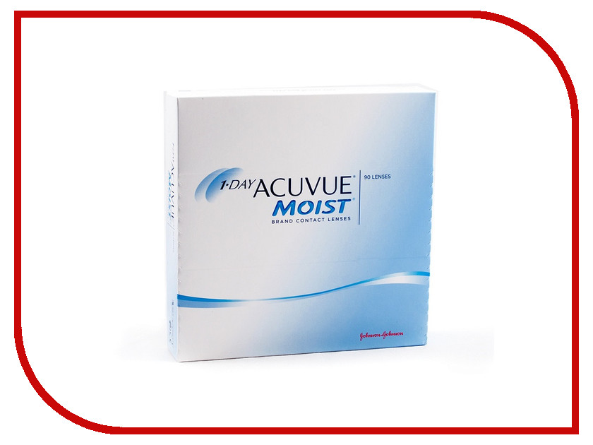 Контактные линзы Johnson & Johnson 1-Day Acuvue Moist (90 линз / 8.5 / -2.5) контактные линзы johnson & johnson 1 day acuvue moist 90 линз 8 5 4 25