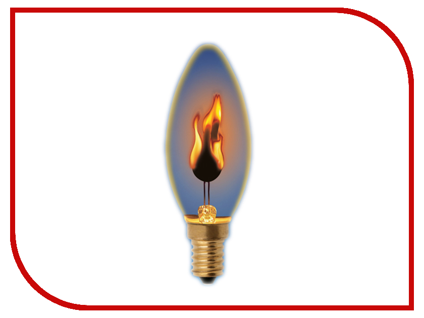 Лампочка Uniel Свеча IL-N-C35-3/RED-FLAME/E14/CL