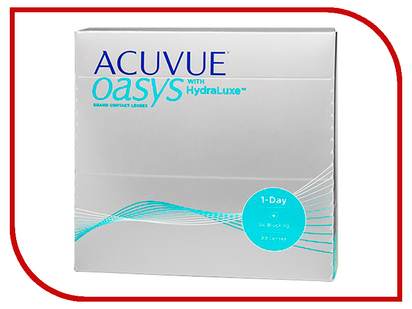Контактные линзы Johnson & Johnson 1-Day Acuvue Oasys with HydraLuxe (90 линз / 8.5 / -0.5) контактные линзы johnson & johnson 1 day acuvue moist 90 линз 8 5 4 25
