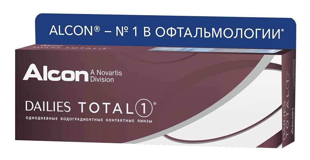Контактные линзы Alcon Dailies Total 1 (30 линз / 8.5 / -4.25) фото