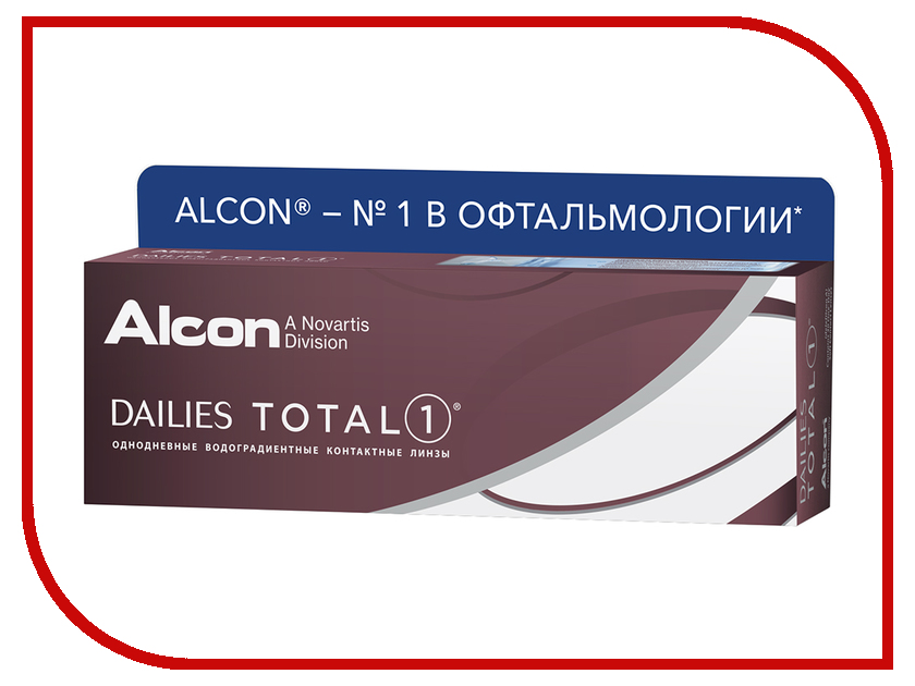 Контактные линзы Alcon Dailies Total 1 (30 линз / 8.5 / -3.25)