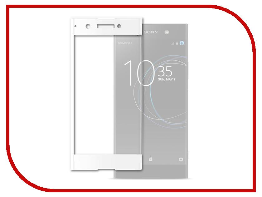 Аксессуар Защитное стекло для Sony Xperia XA1 Plus Solomon Full Cover White аксессуар защитное стекло sony xperia l1 solomon