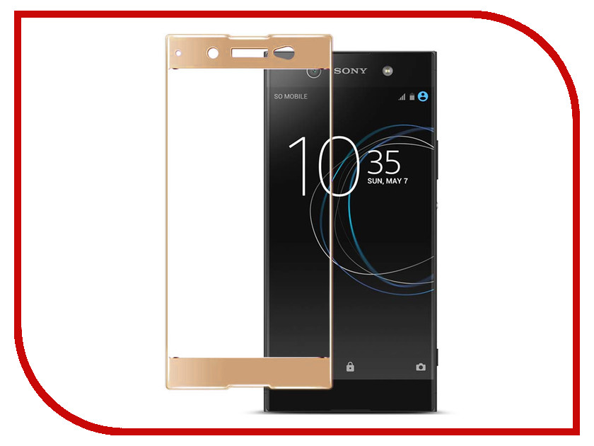 Аксессуар Защитное стекло Sony Xperia XA1 Ultra Solomon Full Cover Gold аксессуар защитное стекло meizu u20 solomon full cover white