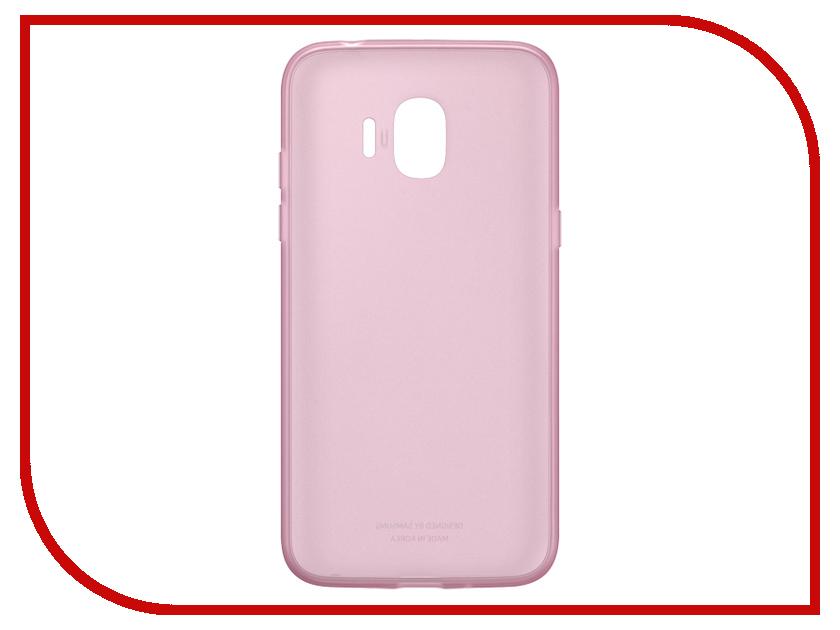 Аксессуар Чехол-накладка Samsung Galaxy J2 2018 Jelly Cover Pink EF-AJ250TPEGRU аксессуар чехол macbook pro 13 speck seethru pink spk a2729