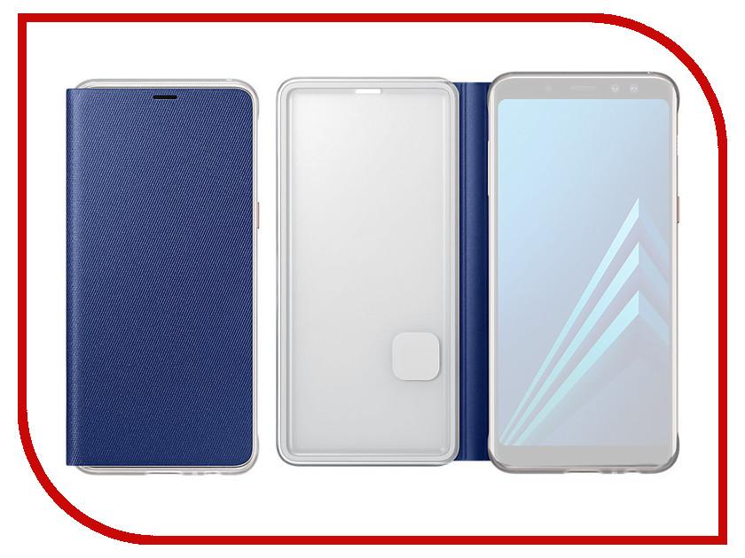 Аксессуар Чехол-книжка Samsung Galaxy A8 2018 Neon Flip Cover Blue EF-FA530PLEGRU аксессуар чехол книжка samsung galaxy a8 2018 neon flip cover blue ef fa530plegru