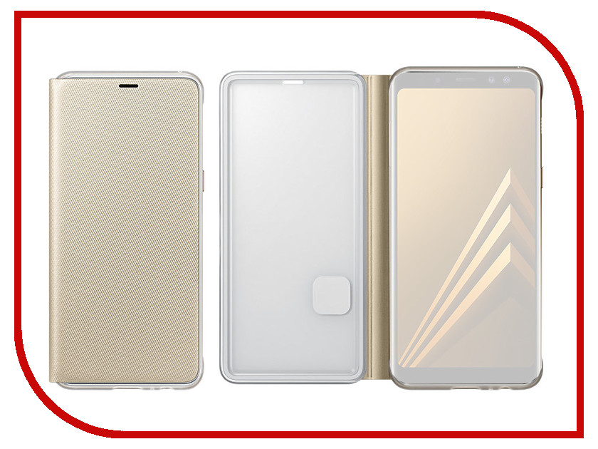 Аксессуар Чехол-книжка Samsung Galaxy A8 Plus 2018 Neon Flip Cover Gold EF-FA730PFEGRU цена