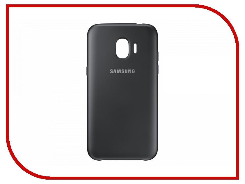 Аксессуар Чехол Samsung Galaxy J2 2018 Dual Layer Cover Black EF-PJ250CBEGRU чехол для samsung galaxy j6 2018 samsung dual layer cover ef pj600cbegru black