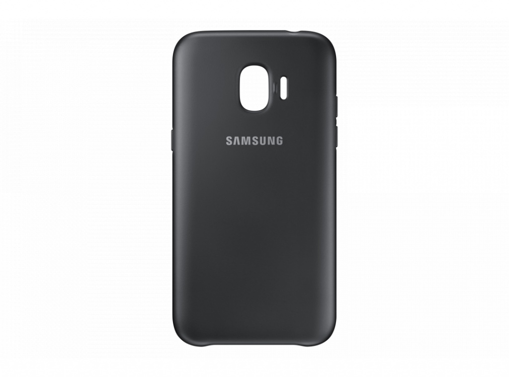 Аксессуар Чехол Samsung Galaxy J2 2018 Dual Layer Cover Black EF-PJ250CBEGRU аксессуар чехол samsung galaxy j2 2018 dual layer cover gold ef pj250cfegru
