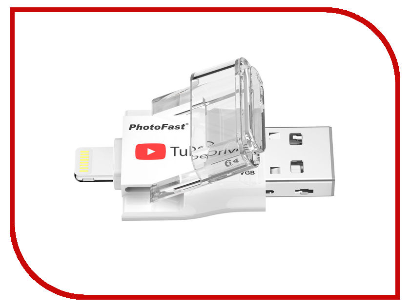 USB Flash Drive 64Gb - PhotoFast TubeDrive Lighting / USB 3.1 TUBEDRIVE64GB i flashdrive max 3 0 photofast