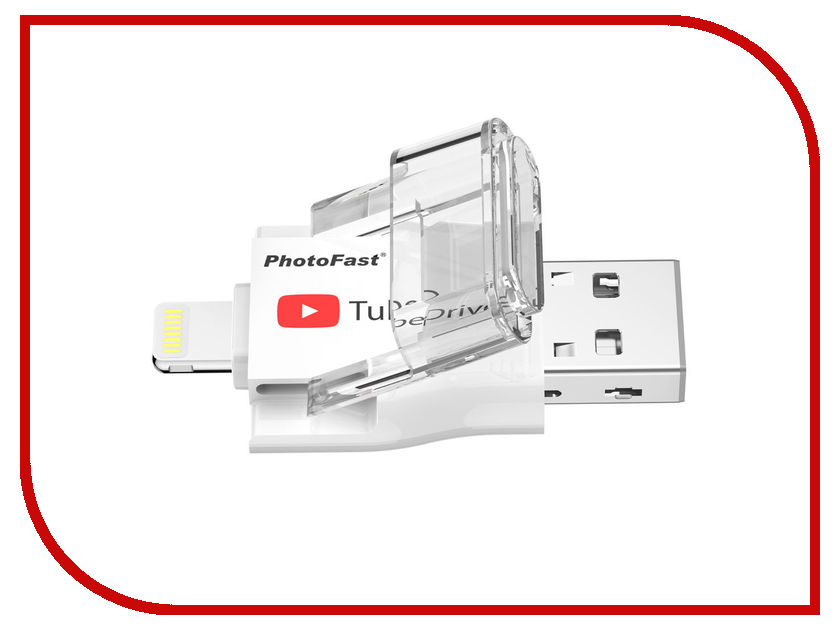 USB Flash Drive 32Gb - PhotoFast TubeDrive Lighting / USB 3.1 TUBEDRIVE32GB usb flash drive 32gb photofast i flashdrive memorycable