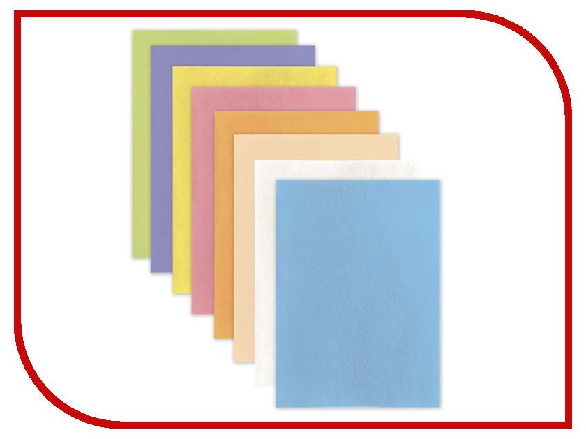 Набор для творчества Brauberg Фетр A4 210x297mm Пастельные цвета 660622