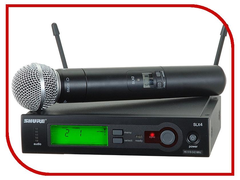 Радиосистема Shure SLX24E/SM58 P4 радиосистема shure glxd24e sm58 z2