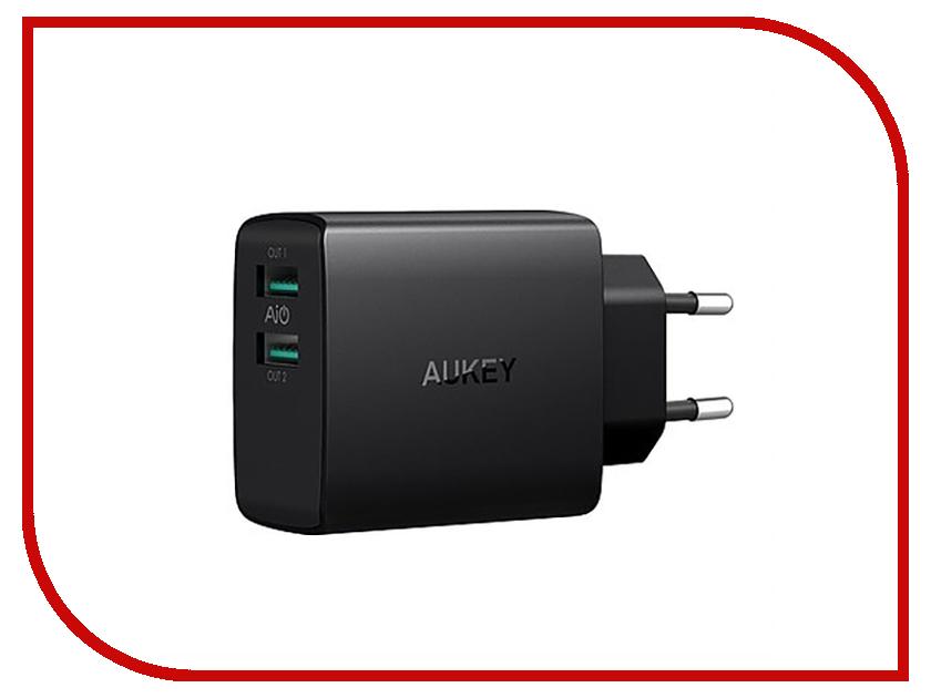 Зарядное устройство Aukey 2xUSB PA-U42 зарядное устройство orient pa 06 12v dc 3a orient pa 06