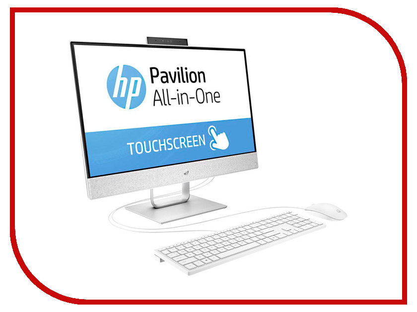 Моноблок HP Pavilion 24-x002ur White 2MJ26EA (Intel Core i3-7100T 3.4 GHz/4096Mb/1000Gb/Intel HD Graphics/Wi-Fi/Bluetooth/Cam/24.0/1920x1080/Touchscreen/Windows 10 Home 64-bit) 511864 001 board for hp pavilion dv6 laptop motherboard with for intel chipset free shipping