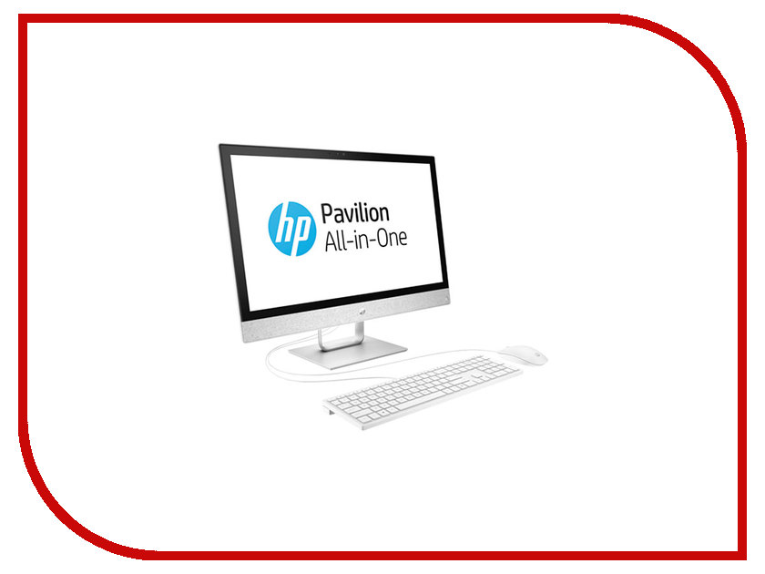 Моноблок HP Pavilion 24-r025ur White 2MJ50EA (Intel Core i7-7700T 2.9 GHz/12288Mb/2000Gb + 16Gb SSD/DVD-RW/AMD Radeon 530 2048Mb/Wi-Fi/Bluetooth/Cam/24.0/1920x1080/Touchscreen/Windows 10 Home 64-bit) sheli laptop motherboard for hp pavilion dv6 7000 682169 001 48 4st10 021 ddr3 gt630m 1gb non integrated graphics card