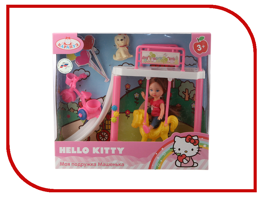 Кукла Карапуз Hello Kitty MARY1516-BB-HK карапуз кукла рапунцель со светящимся амулетом 37 см со звуком принцессы дисней карапуз