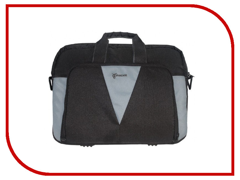 Аксессуар Сумка 15.6 Vivacase Assistant Black-Grey VCN-CAS15-bl