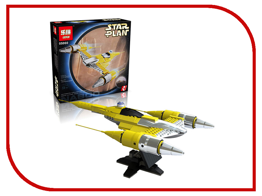 Конструктор Lepin Star Plan Истребитель Набу 187 дет. 05060 конструктор lepin star wnrs истребитель сопротивления x wing fighter 740 дет 05029